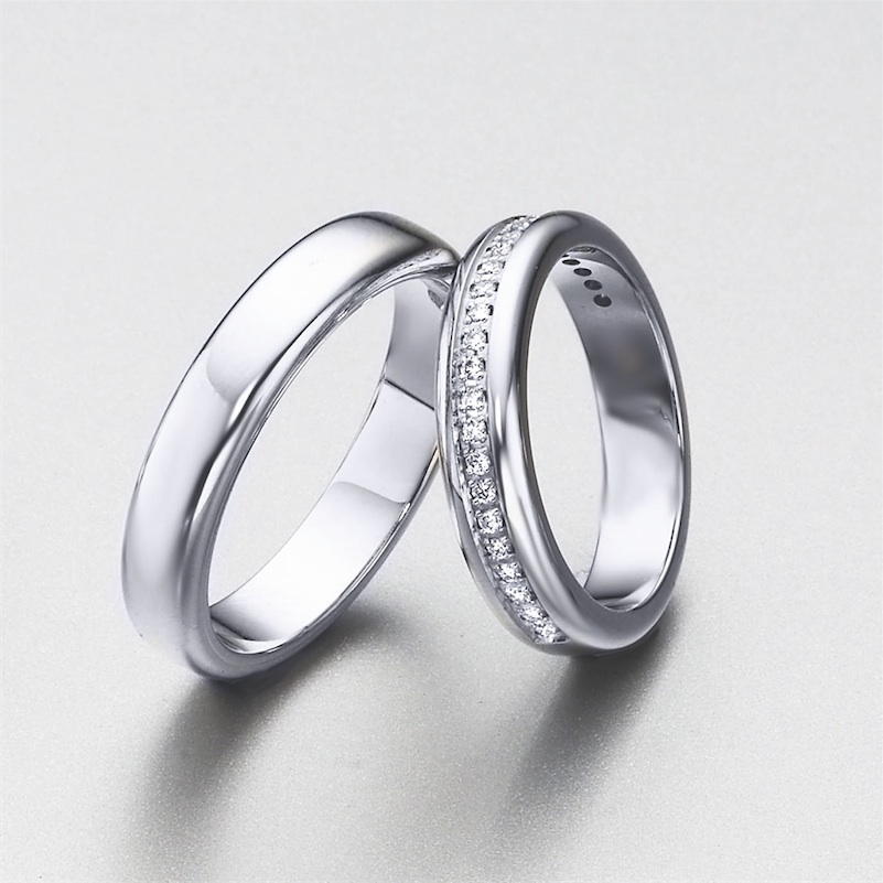 f72924eee0ae ELEKA  alianzas de bodas personalizadas en oro y diamantes.