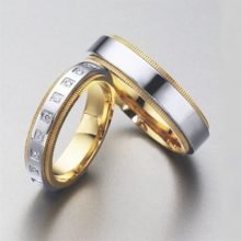 Gold partnerships of 18 bicolor carats with and without diamonds of LK