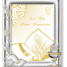 On the occasion of first communion silver photo frame, of Italsilver.