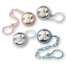 Needles for garment caught pacifier, in silver, of Italsilver.