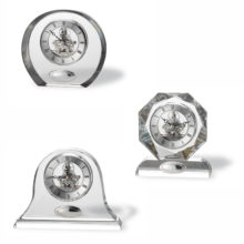 Desktop Crystal watches, silver plated, of Italsilver.