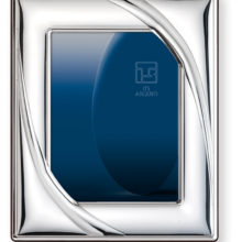 Modern style wide cane silver frame.