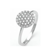 Ring in white gold with diamond-studded