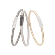 White Gold bracelets, Pink and black with white and Black diamonds