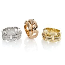 """Anilos collection & quot; Febo"""" Gold's 18 karat in different versions, Chimento's"""