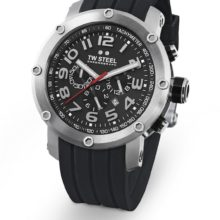 TW Steel watch ref. TW 121 chronograph in steel and black