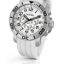 TW Steel watch ref. TW 94 chronograph in Total White look