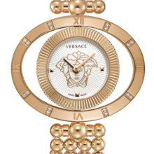 Versace Eon Ellipse Womens gold watch