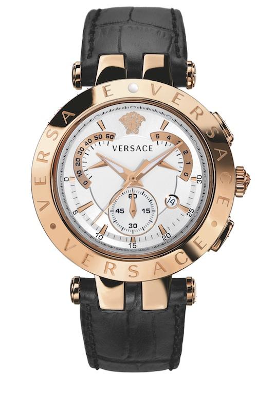 Reloj Versace V,Race Chrono para hombre automático, dorado en oro rosa
