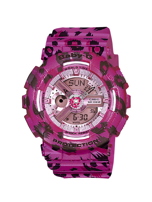 af2f320e8fe1 Casio baby-g watch for woman in pink with spots type Leopard