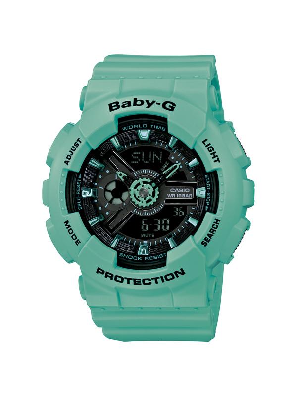 fcce38e2210c Casio baby-g watch digital and analog Womens green REF. BA-111-