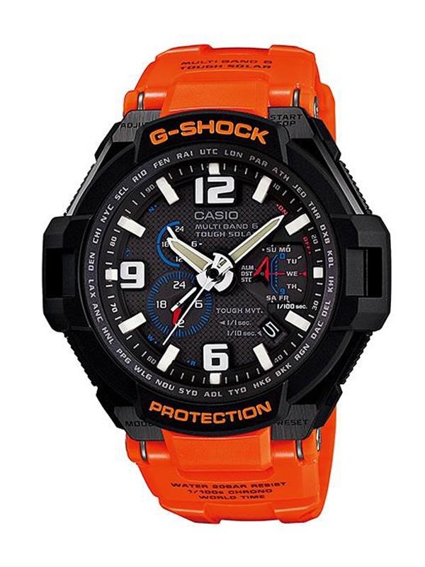 Reloj Casio G,Shock Premiun con Wave Receptor y Tough Solar GW,4000R,4AER, para hombre.