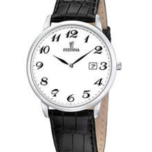 Watch Festina's classic man, with black leather strap; REF. F6806/5