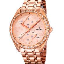 Watch Festina Lady gold red gold with stones; F16742-2