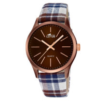 Watch Lotus Smart Casual man in Brown with Plaid belt, 18350-1