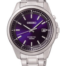 Seiko Kinetic watch with blue dial SKA675p1
