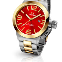 Tw Steel watch Steel Canteen partially gold, with red sphere CB71