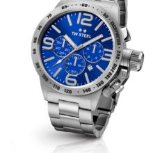 Tw Steel watch chronograph steel Canteen, with blue dial CB13