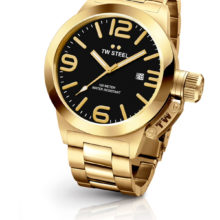 Tw Steel Canteen elegant watch gold-tone steel yellow gold, Black Dial CB91