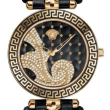 Versace Vanitas watch with diamonds, Gold with black VK717-0014