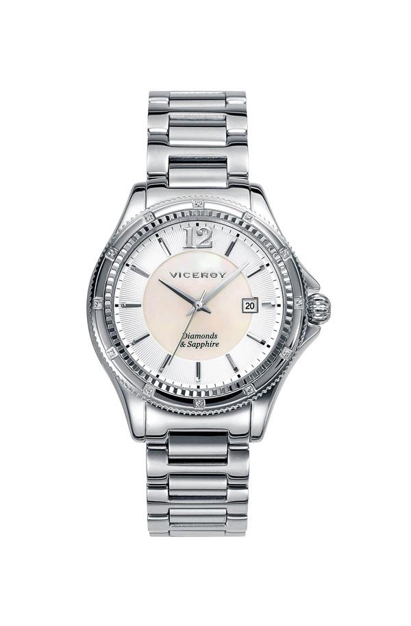 76eb19f70f8f Reloj Penélope Cruz en acero con diamantes 47890-85