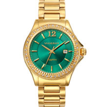 Penélope Cruz watch yellow gold and green sphere 471028-65