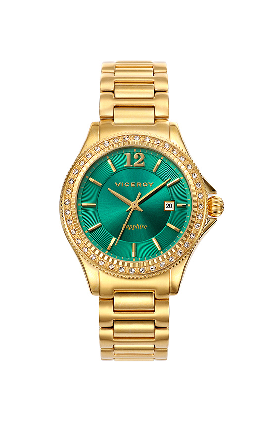 Penélope Cruz watch yellow gold and green sphere 471028-65 4f598acc9bc6