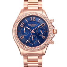 Watch Penélope Cruz woman chronograph, Gold with elegant blue dial 471026-35