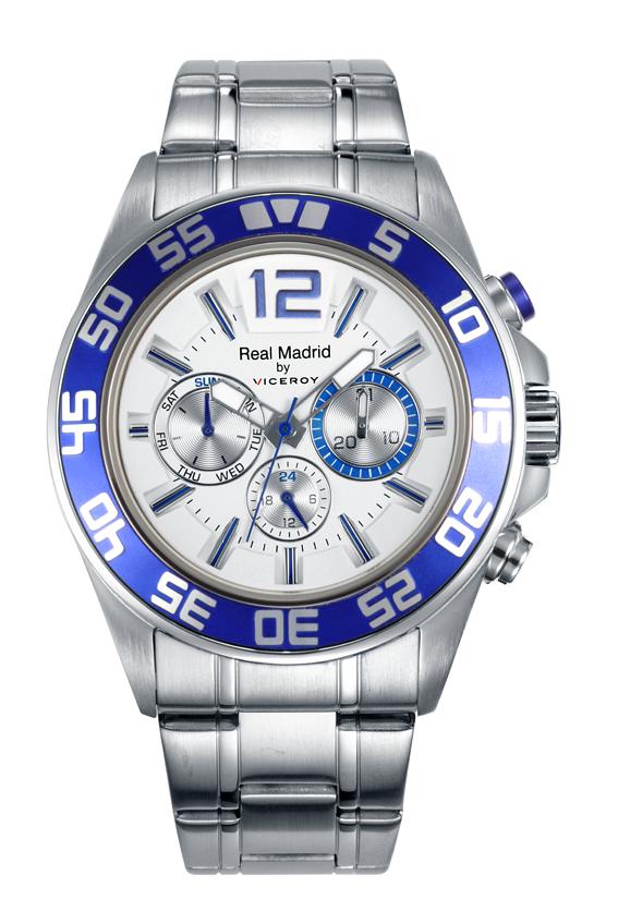 8f36e9ef3475 Reloj Viceory Real Madrid de hombre en acero con cronógrafo