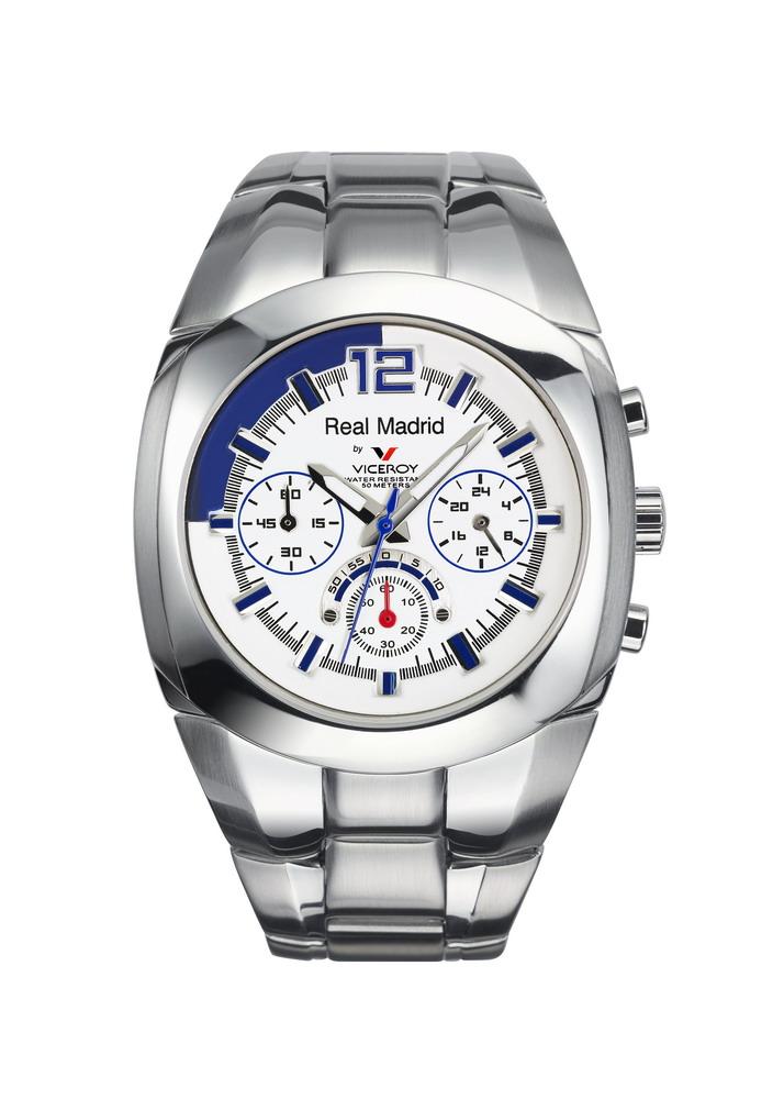 f58ff96c3bf6 Reloj Viceory Real Madrid de hombre en acero con cronógrafo 43821-05