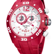 Watch Real Madrid Viceory of man in red resin, with chronograph 432853-75