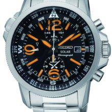 Seiko Solar watch with Chronograph and alarm SSC077P1