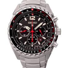 Seiko Solar Prospex sky watch with Chronograph and alarm SSC293p1ssc261p1
