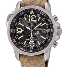 Seiko Solar Prospex Earth Watch with Chronograph and alarmassc293p1
