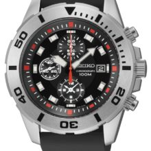 Seiko watch (SNDD95P2), Basic with rubber strap, Chronograph