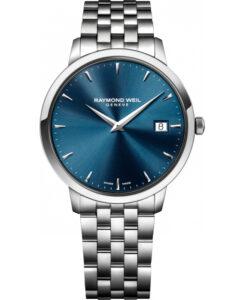 Reloj Raymond Weil de hombre, en acero y esfera azul 5588-st-50001