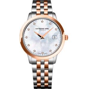 Reloj Raymond Weil de mujer, con esfera de nácar y diamantes 5388-sp5-97081