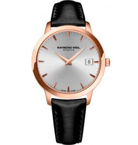Reloj Raymond Weil de mujer, dorado en oro rosa y correa de piel 5388-PC5-65001