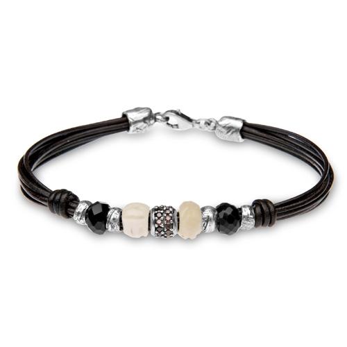 38b62dc5878b Platadepalo  colección de pulseras de cuero y plata para hombre ...
