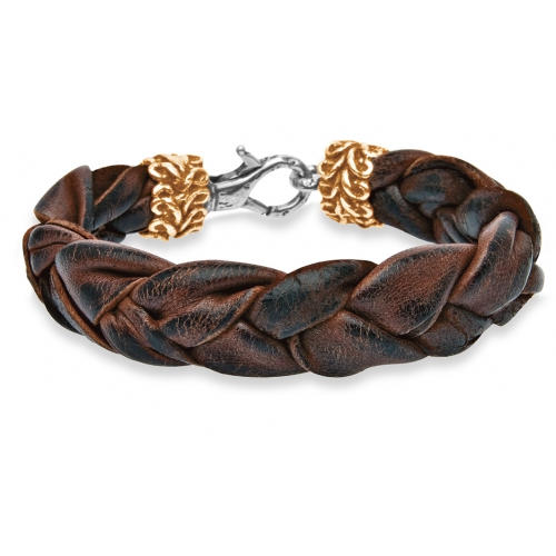 5f40948931b1 Platadepalo  colección de pulseras de cuero y plata para hombre ...