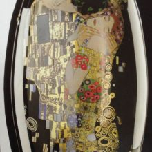 "Goebel: jarron in black glass black box & quot; The Kiss"" by Gustav Klimt"