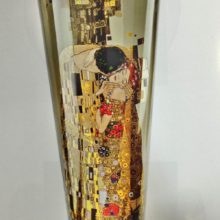 "Goegel: high vase clear glass & quot; Kiss"" Gustav Klimt"