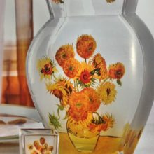 "Goebel: vase and candleholder small & quot; Sunflowers"" Van Gogh"
