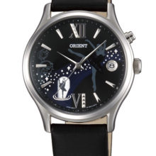 Orient Watch Automatic woman with black leather strap ref. DM01003B