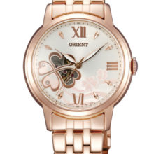 Watch automatic Orient of woman, Golden red gold and with window (DB07005Z)