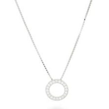 Minimalist rhodium-plated Silver Pendant, Silver rhodium-plated, luxenter.