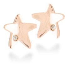 Luxenter gold red Gold Silver earrings, Star shaped.