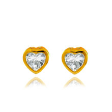 Luxenter gold Gold Silver earrings, heart shaped.