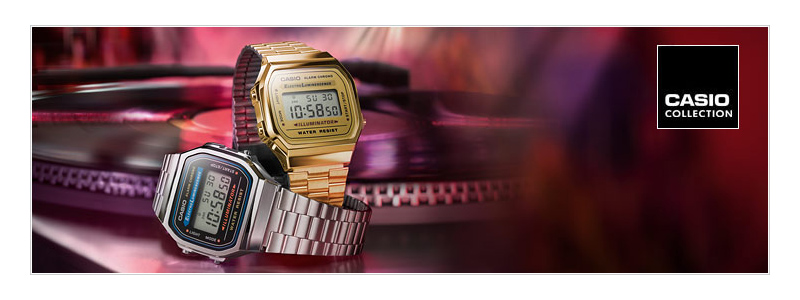 Pon un reloj Casio retro en tu vida.