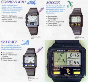 Reloj Casio retro con juegos